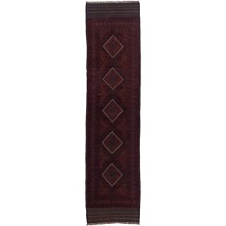 Ecarpetgallery Hand-knotted Tajik Caucasian Blue Red Wool Oriental Runner Rug (2'1 x 8'4)