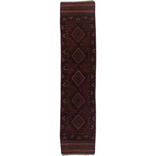 Ecarpetgallery Hand-knotted Tajik Caucasian Red Blue Wool Runner Rug (1'11 x 8'3)