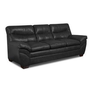 Simmons Upholstery Soho Onyx Bonded Leather Sofa