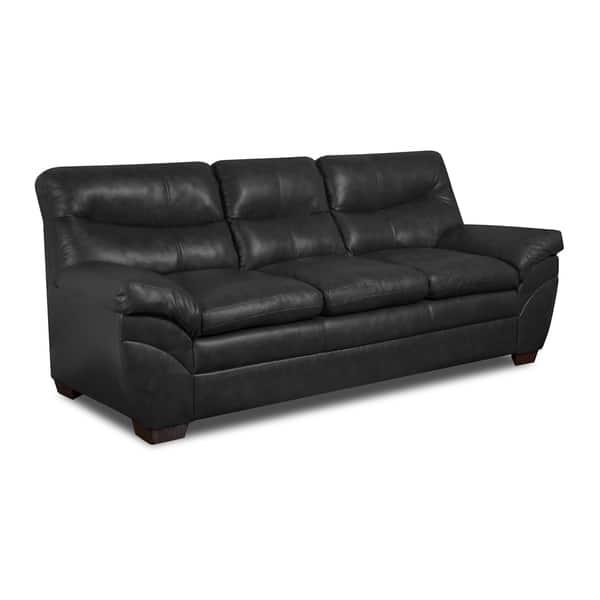 Enjoyable Simmons Upholstery Soho Onyx Bonded Leather Sofa Frankydiablos Diy Chair Ideas Frankydiabloscom