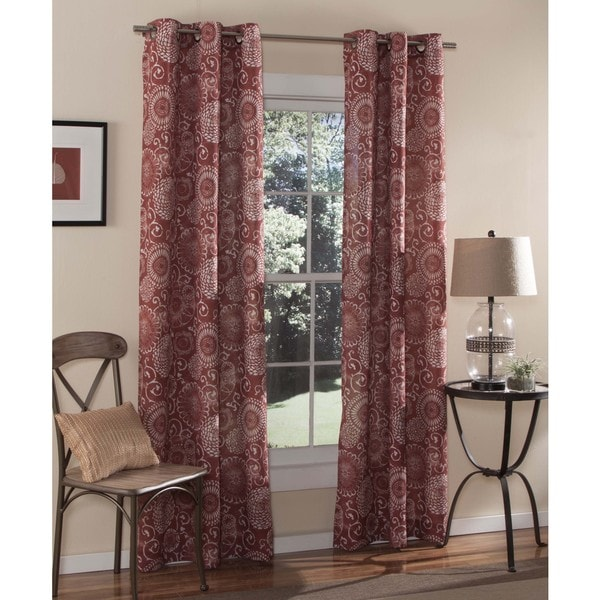 Shop M Style Batik 84 Inch Curtain Grommet Panel Pair
