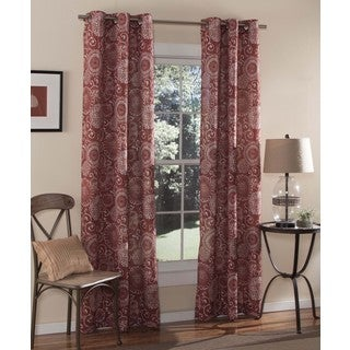 m.style Batik 84-inch Curtain Grommet Panel Pair