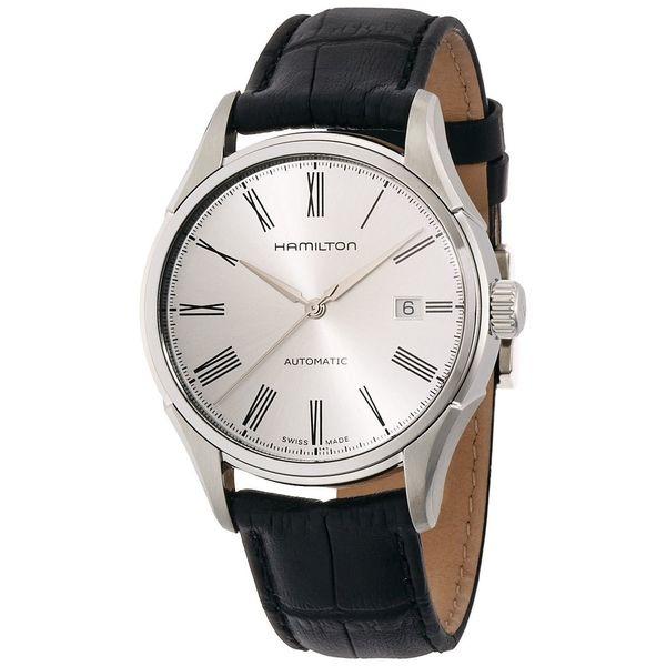 Hamilton Men's H39515754 'Valiant' Automatic Black Leather Watch