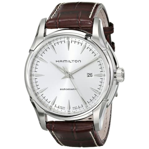 Hamilton Men's H32715551 'Jazzmaster Viewmatic' Automatic Brown Leather Watch