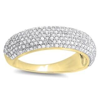 Elora 10k Gold 1ct TDW Round Diamond Anniversary Wedding Band Ring (H-I, I1-I2)