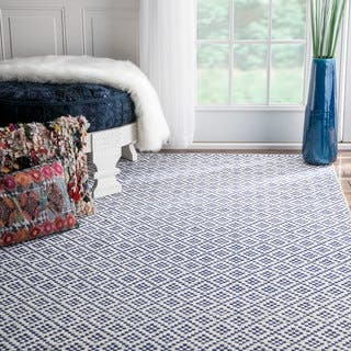 nuLOOM Handmade Flatweave Moroccan Trellis Navy Cotton Rug (9' x 12')|https://ak1.ostkcdn.com/images/products/11447479/P18406676.jpg?impolicy=medium