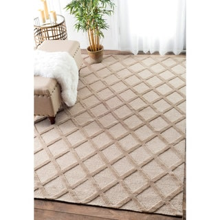 nuLOOM Trellis Tone on Tone Fancy Beige Rug (8'6 x 11'6)
