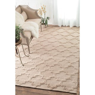 nuLOOM Luna Trellis Tone on Tone Fancy Beige Rug (7'6 x 9'6)