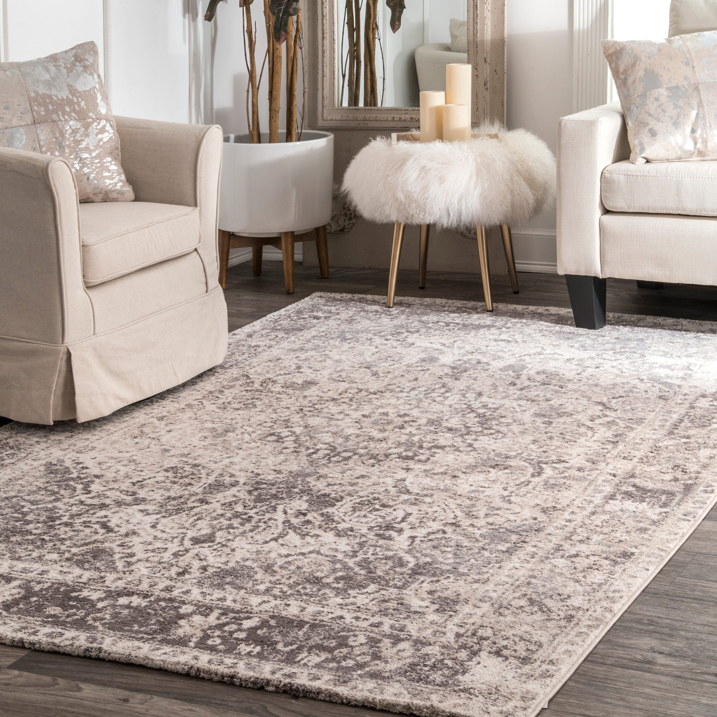 Shop The Gray Barn Rosasharn Vintage Faded Medallion Beige