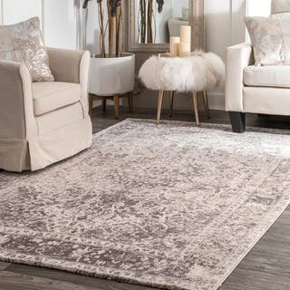The Gray Barn Rosasharn Vintage Faded Medallion Beige Rug 7 6