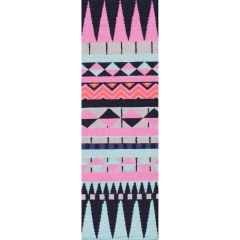 nuLOOM Multi Southwestern Flatweave Wool Area Rug