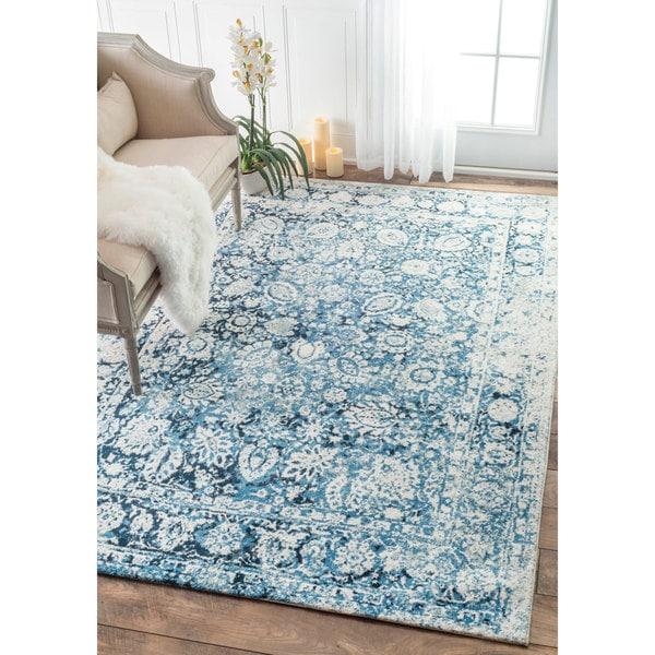 nuLOOM Vintage Faded Adileh Blue Rug (4' x 6') - 4' x 6'