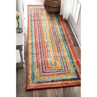 nuLOOM Contemporary Endless Doorways Multi Kids Runner Rug (2'5 x 8')