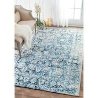 nuLOOM Vintage Faded Adileh Blue Rug (5' x 8') - 5' x 8'