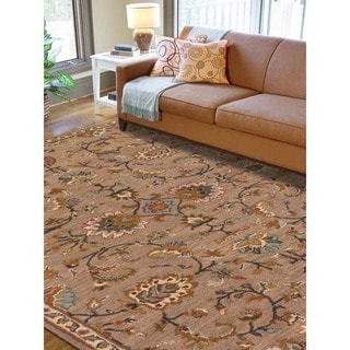 Hand-tufted Truth Camel New Zealand Wool Rug (5' x 8')