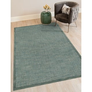 Hand-tufted Ada Teal New Zealand Rug (5' x 8')