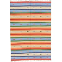 Unique Loom Adana Kilim Dhurrie Area Rug - 5' 7 x 7' 10