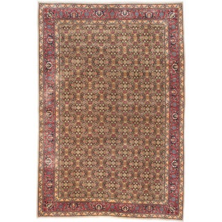 Ecarpetgallery Hand-knotted Persian Ardabil Brown Green Wool Rug (6'6 x 9'6)