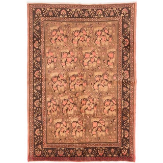 Ecarpetgallery Hand-knotted Persian Afshar Brown Wool Rug (6'4 x 9'2)
