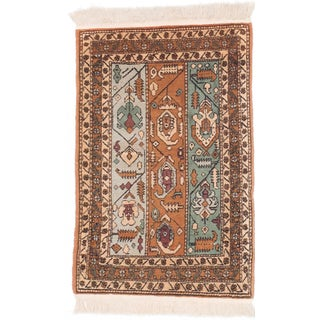 Ecarpetgallery Hand-knotted Persian Ardabil Brown Wool Rug (1'11 x 3')