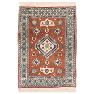 Ecarpetgallery Hand-knotted Persian Ardabil Blue Brown Wool Rug (2' x 2'11)