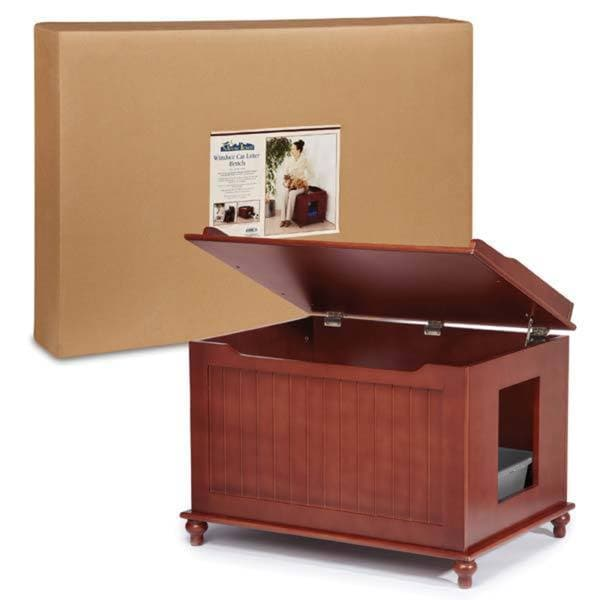 Meow Town Windsor Cat Hidden Litter Box Enclosure U0026amp; Furniture Bench