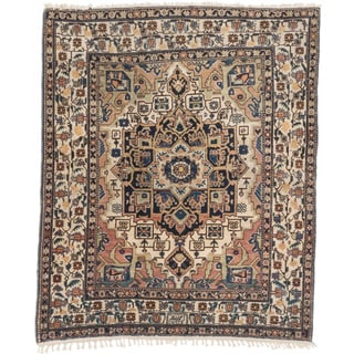 Ecarpetgallery Hand-knotted Persian Ardabil Beige Brown Wool Rug (4'11 x 5'11)