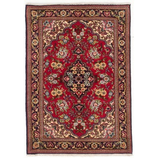 Ecarpetgallery Hand-knotted Persian Qum Red Wool Rug (2'9 x 3'10)