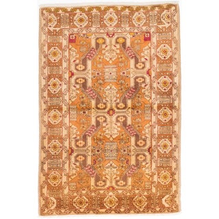 Ecarpetgallery Hand-knotted Persian Ardabil Brown Wool Rug (3'11 x 5'10)