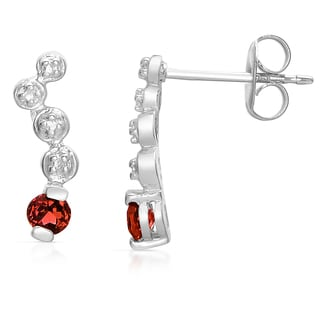 Collette Z Sterling Silver Genuine Ruby DNA Earrings