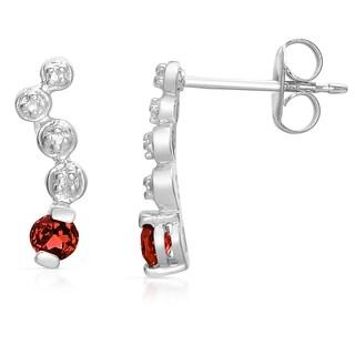 Collette Z Sterling Silver Genuine Ruby DNA Earrings