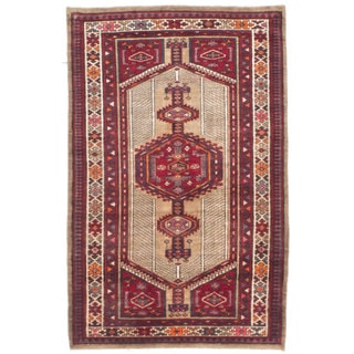 Ecarpetgallery Hand-knotted Persian Ardabil Beige Red Wool Rug (3'3 x 5'6)