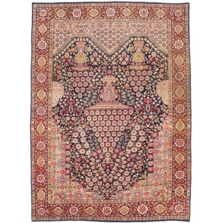 Ecarpetgallery Hand-knotted Persian Kerman Blue Wool Rug (6'11 x 9'10)