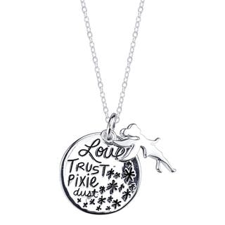 Disney Sterling Silver Tinkerbell Necklace|https://ak1.ostkcdn.com/images/products/11447864/P18407086.jpg?impolicy=medium