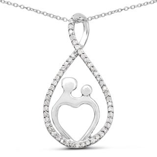 Malaika Sterling Silver 3/8ct TDW White Diamond Pendant