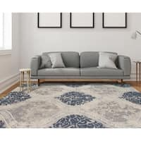 Hand-tufted Naomi Silver Sand New Zealand Wool and Art Silk Rug - 9' x 13'