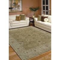 Hand-knotted Faith Brown/ Beige New Zealand Wool Rug - 8' x 10'