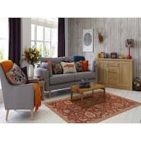 "Hand-tufted Truth Rust New Zealand Wool Rug (7'6 x 9'6) - 7'6"" x 9'6"""