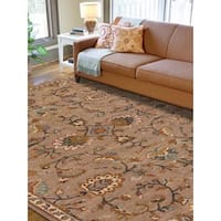 Hand-tufted Truth Camel New Zealand Wool Rug (8' x 11')
