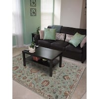 Hand-tufted Truth Blue New Zealand Wool Rug - 2' x 3'