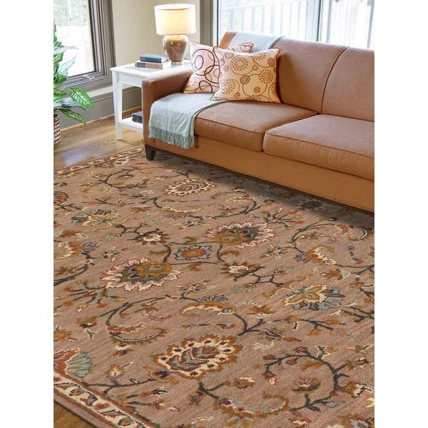 Hand-tufted Truth Camel New Zealand Wool Rug (2' x 3')