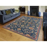 Hand-tufted Truth Navy New Zealand Wool Rug (2' x 3')