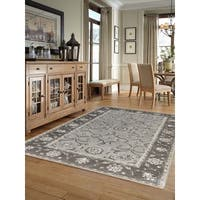 Hand-tufted Twilight Iron New Zealand Wool and Art Silk Rug - 2' x 3'