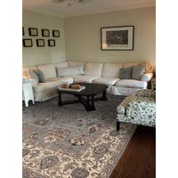 Hand-knotted Faith Grey/ Beige New Zealand Wool Rug (2' x 3')