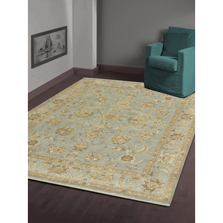 Hand-knotted Faith Ice Blue New Zealand Wool Rug (2' x 3')