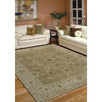 Hand-knotted Faith Brown/ Beige New Zealand Wool Rug - 2' x 3'