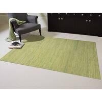 Hand-woven Menlo Park Sage Green Saree Silk Rug - 3' x 5'