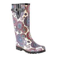 Women's Nomad Puddles Boot Blue/White Flower Burst