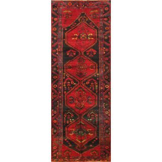 ecarpetgallery Hand Knotted Persian Roodbar Red Wool Rug (3'10 x 11'0)