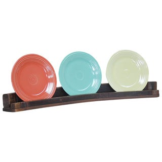 Wine Stave Plate Rack